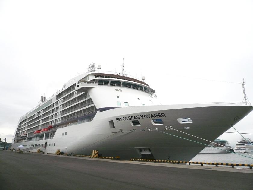 Seven Cruise Ships Docked At St Pbs Passenger Port