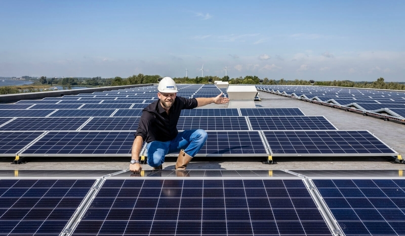 Damen installs solar panels at Dutch shipyards