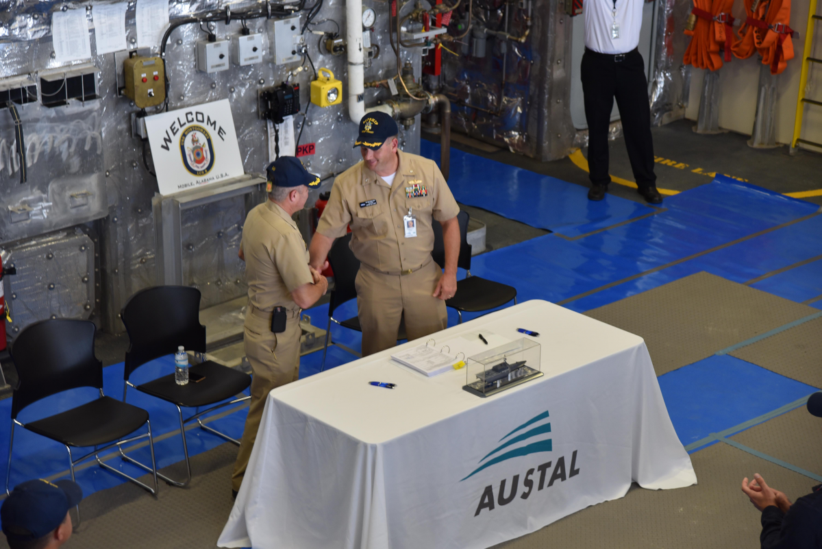 U S  Navy takes delivery of LCS 8 from Austal