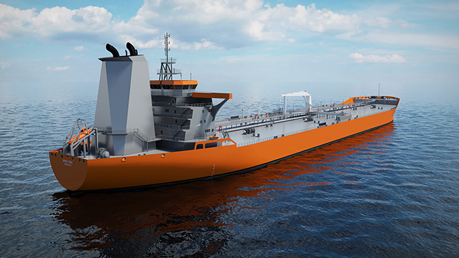 Future Ship Design : Wärtsilä unveils new aframax tanker design at posidonia